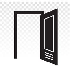 Open door main entrance flat icon vector