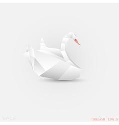 Origami swan vector