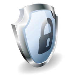 padlock shield security concept vector image