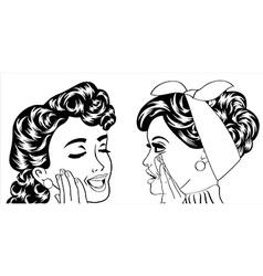 pop art retro women in comics style that gossip vector image
