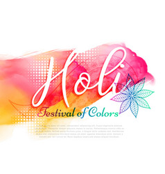 Poster of indian holi festival design vector