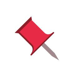 Push pin supply stationery education school icon vector