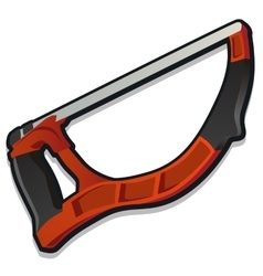 Red arm-saw working tools series vector