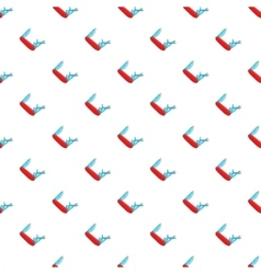 Red multifunction knife pattern cartoon style vector