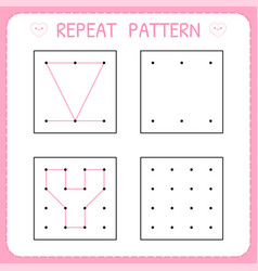 Repeat pattern educational games for practicing vector