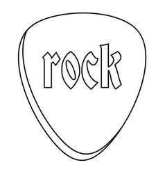 Rock stone icon outline style vector