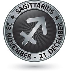 Sagittarius zodiac silver sign sagittarius symbol vector