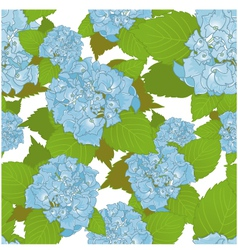 Seamless background with blue hydrangea vector