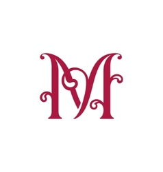 Sign letter m vector