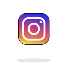 Social media instagram icon colour gradient icon vector