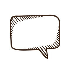 Speech bubble dialog element vector image