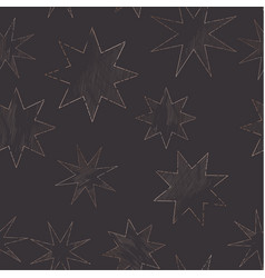 starry night sky trendy seamless pattern vintage vector image