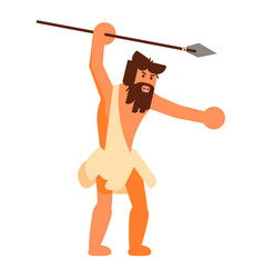 Stone age human icon isolated on white background vector