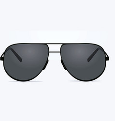 sunglasses on white background vector image