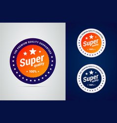 super quality badge with stars premium vector image