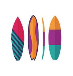 surfing boards icons vector image
