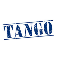 Tango blue grunge vintage stamp isolated on white vector