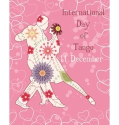 Tango day background vintage vector image