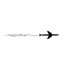 the plane flies and speed lines tourism and vector image