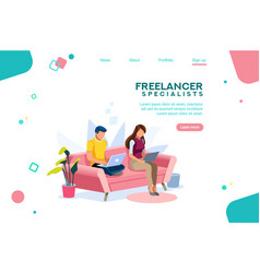 Time online concept isometric vector