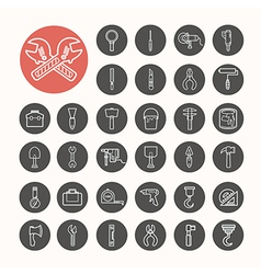 Tools functions Icons set eps10 vector