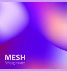 trendy liquid backgrounds purple gradient mesh vector image