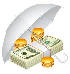 umbrella and money vector image