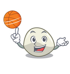 With basketball character cartoon homemade organic vector
