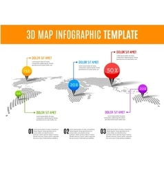 world map infographic 3d map concept vector image