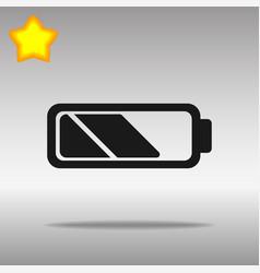 Battery black icon button logo symbol vector