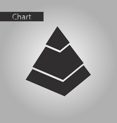 Black and white style icon economic pyramid vector