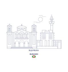 bujumbura city skyline vector image vector image