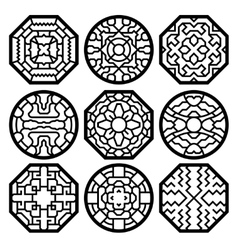 Chinese korean traditional pattern vector image