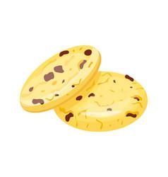 cookie homemade breakfast chocolate bake cakes vector image vector image