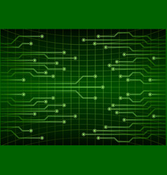 green abstract cyber future technology concept vector image vector image