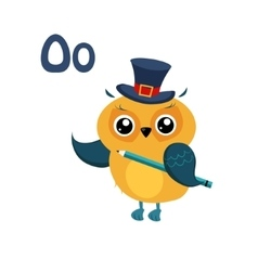 Owl Funny Alphabet Animal vector image