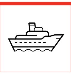 Package delivery ship icon vector
