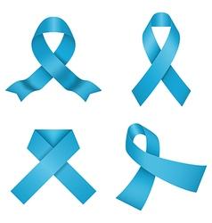 Blue awareness ribbons vector image