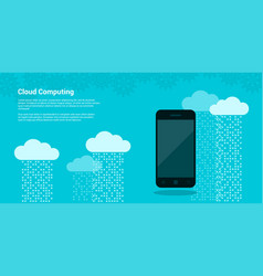 cloud computing banner vector image vector image