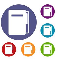 file folder icons set vector image