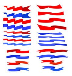flat ribbon color set vector image vector image