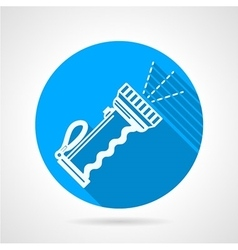 Flat round icon for diving flashlight vector image