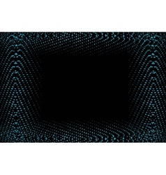frame of blue lights vector image vector image