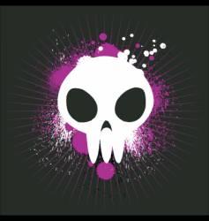cute graffiti skull vector image