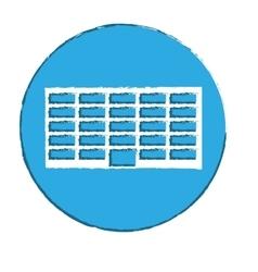 emblem city office building line sticker vector image