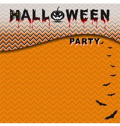 Halloween party with seamless pattern background vector image vector image
