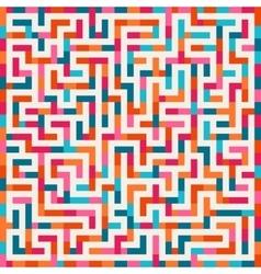Labyrinth Pink Orange Blue Maze Square on vector image