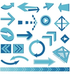blue arrows sign vector image vector image