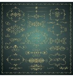 Hand Drawn Decorative Golden Design vector image