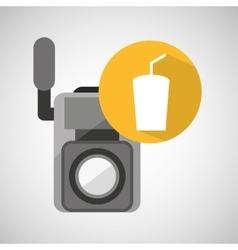 movie video camera soda icon vector image
